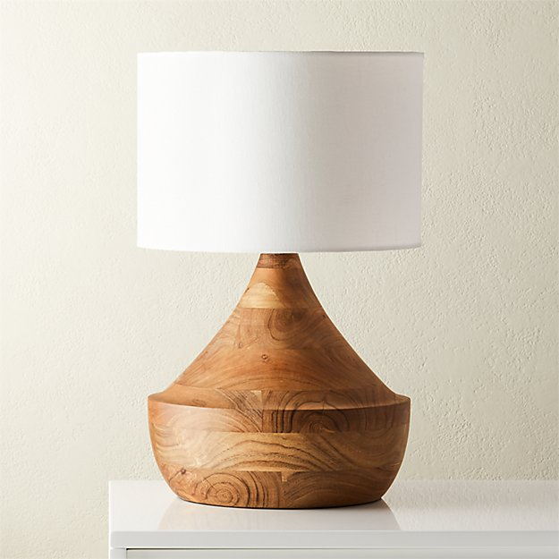 Atlas Natural Wood Table Lamp - Image 1 of 7