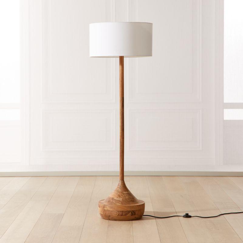 Atlas Wood Floor Lamp Reviews Cb2