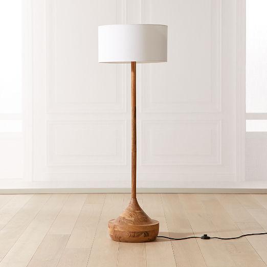 Atlas Wood Floor Lamp