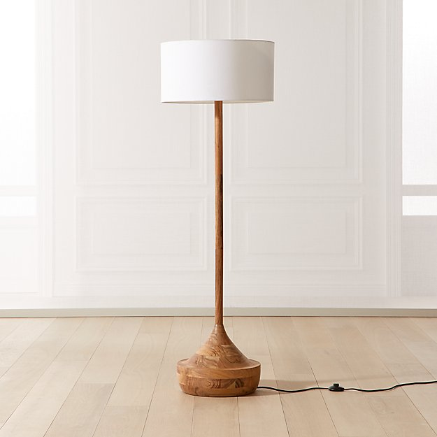 Atlas Wood Floor Lamp - Image 1 of 7