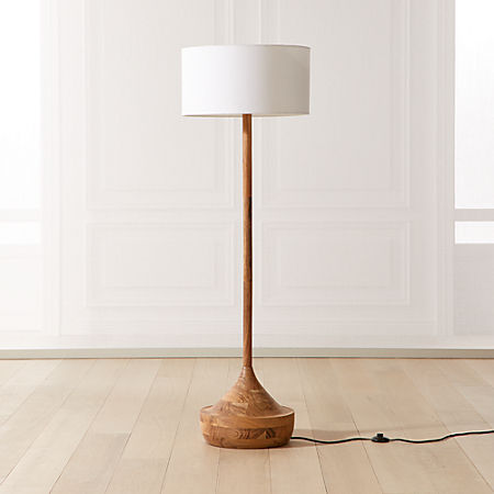 Atlas Wood Floor Lamp Reviews Cb2