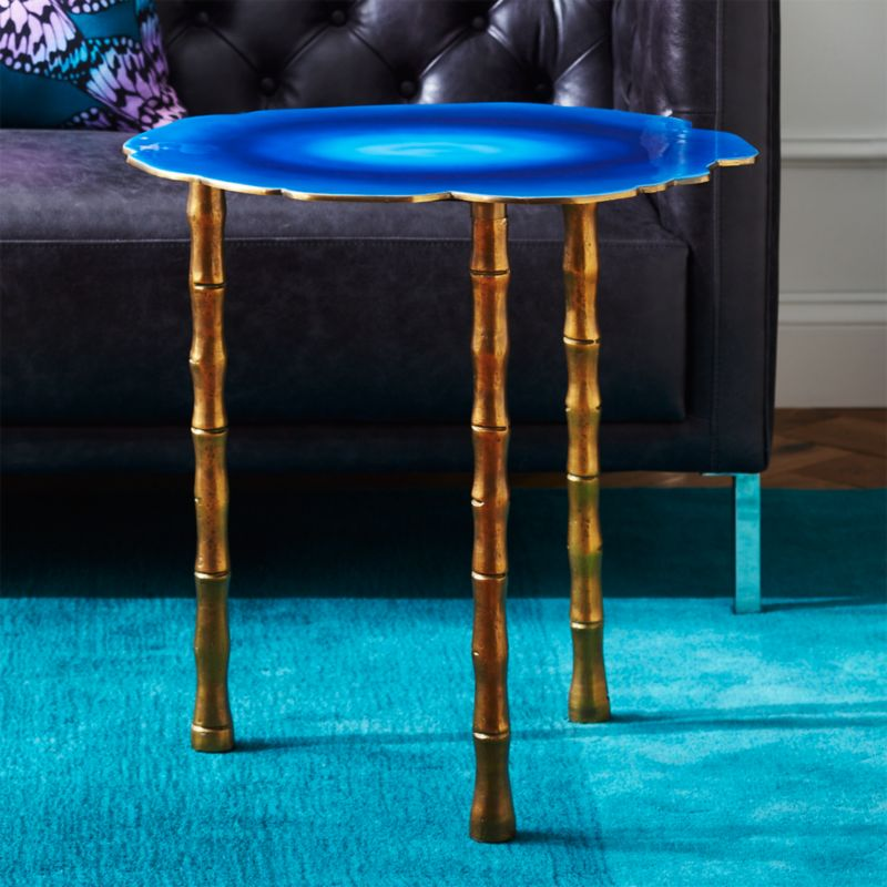 Merveilleux Atol Bamboo Bunching Side Table