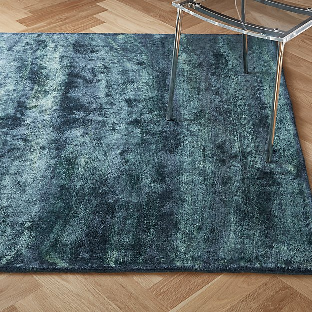 Atossa Faded Teal Rug - Image 1 of 8