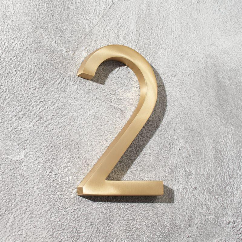 Aurele 6 Brushed Br House Number 2