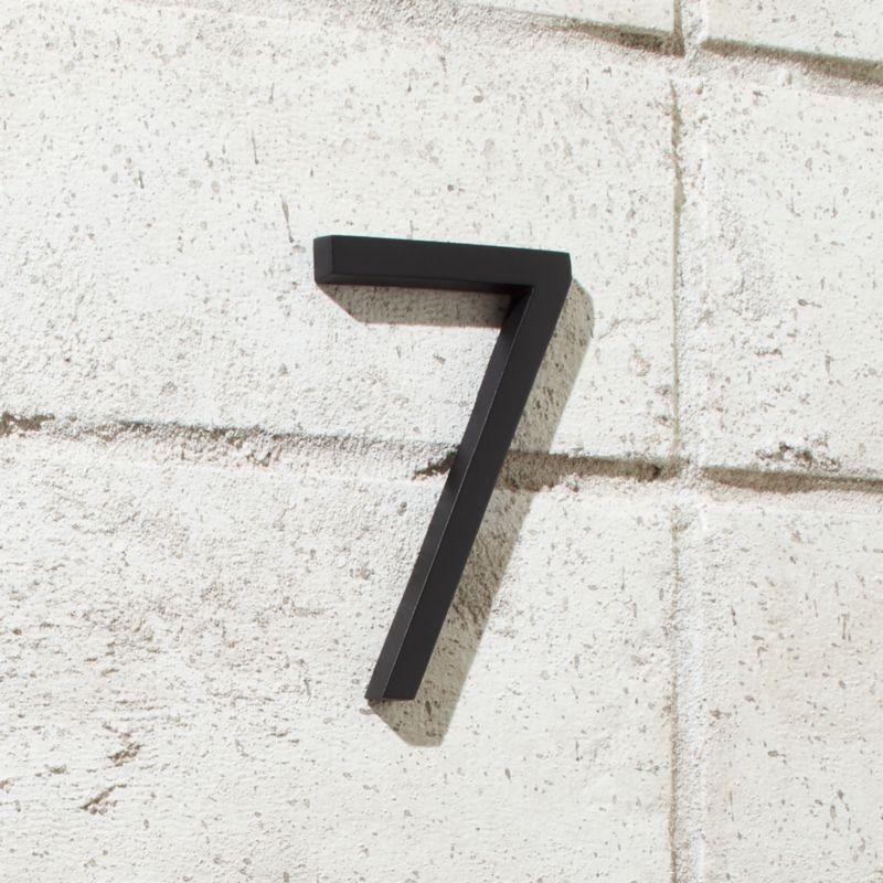 Aurele 4 Matte Black House Number 7