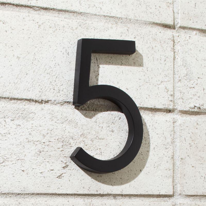 Aurele 6 Matte Black House Number 5