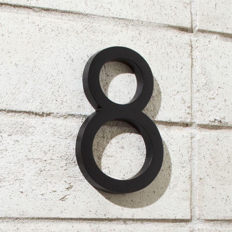 Aurele 6 Matte Black House Number 8