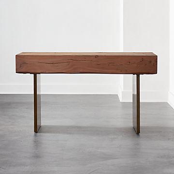 Contemporary Console Tables Cb2 Canada - Live Edge Sofa Table