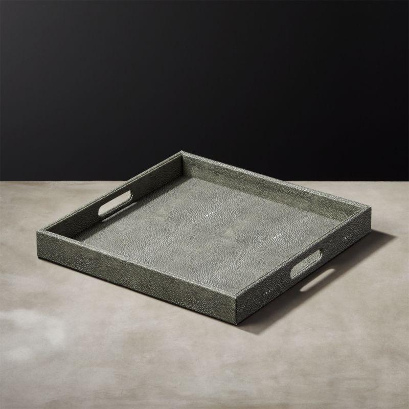 Shagreen Coffee Table Tray: Avalon Square Shagreen Tray + Reviews