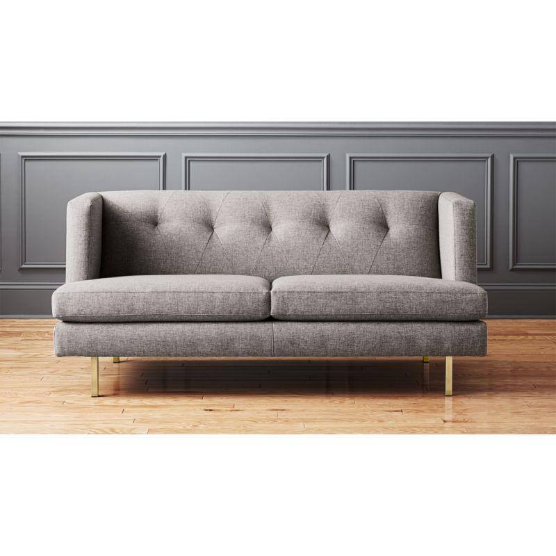 Super Avec Grey Apartment Sofa With Brass Legs Creativecarmelina Interior Chair Design Creativecarmelinacom