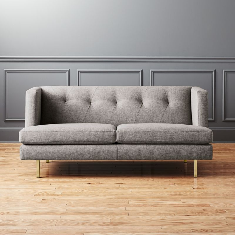 Avec Grey Apartment Sofa With Br Legs