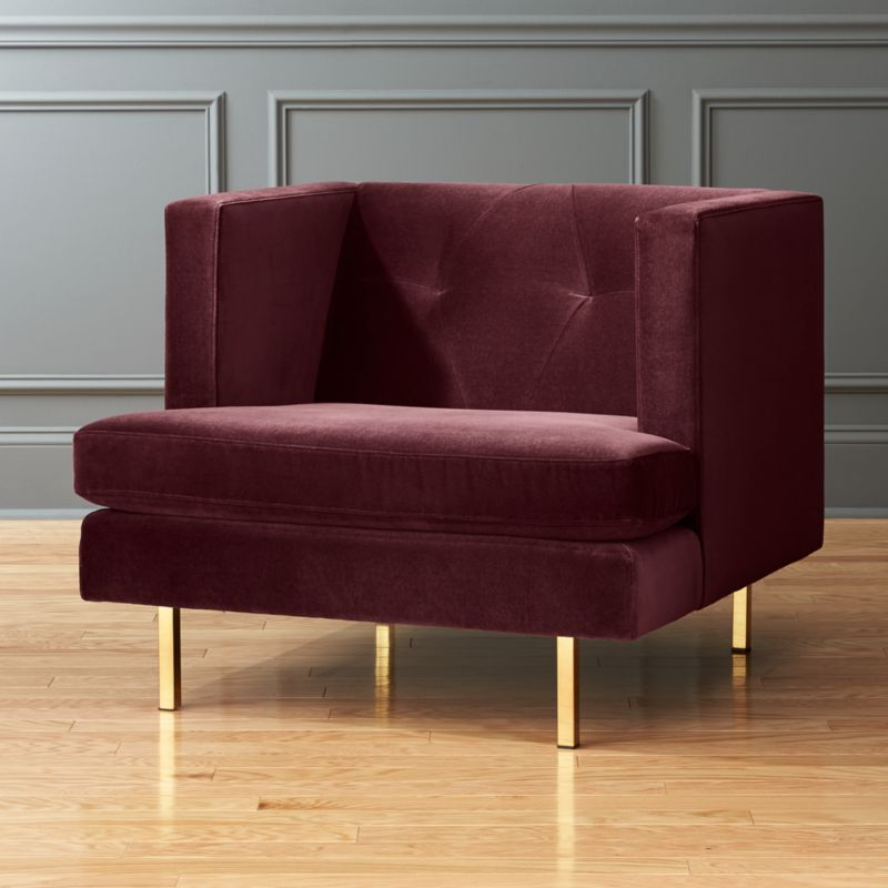 Merveilleux Velvet Armchairs   CB2