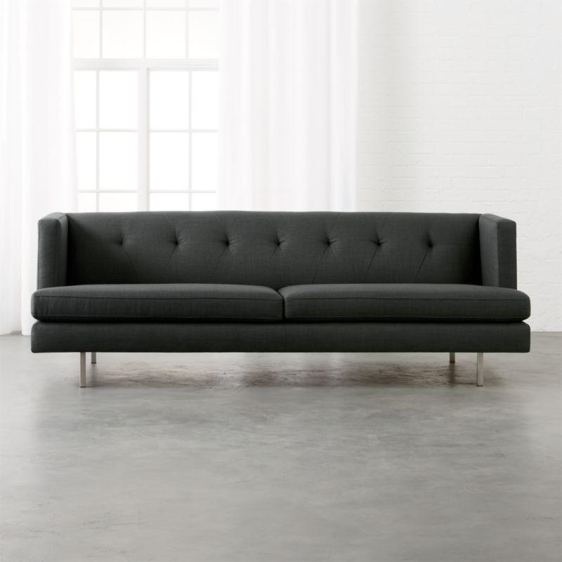 Cb2 Forte Channeled Saddle Leather Sofa: Low Profile Sofas
