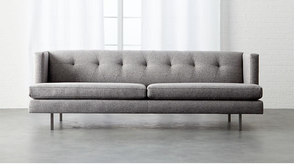 Avec Sofa With Gunmetal Legs + Reviews | CB2