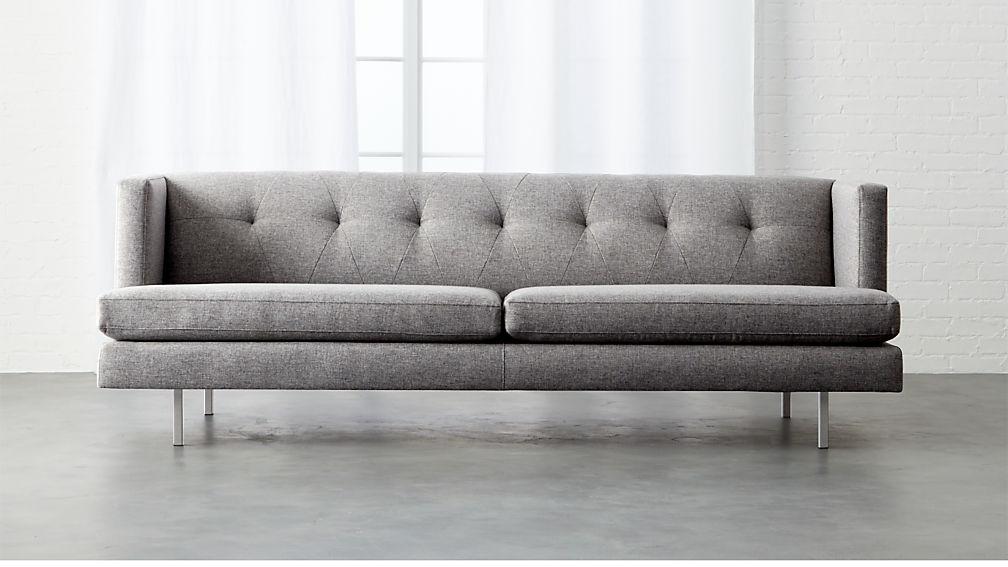 Finest avec tufted grey sofa + Reviews | CB2 ZM12