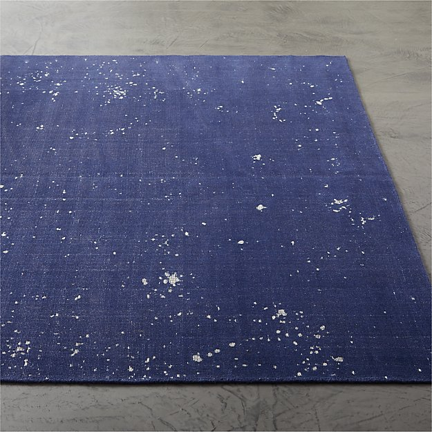 Avi Handloomed Blue Speckled Rug - Image 1 of 3