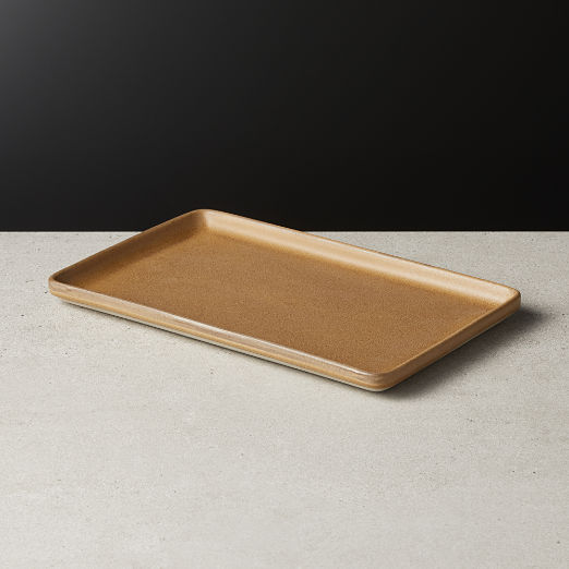 Axel Caramel Rectangular Serving Platter