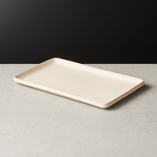 Axel Light Pink Rectangular Serving Platter