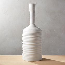 Axle White Vase