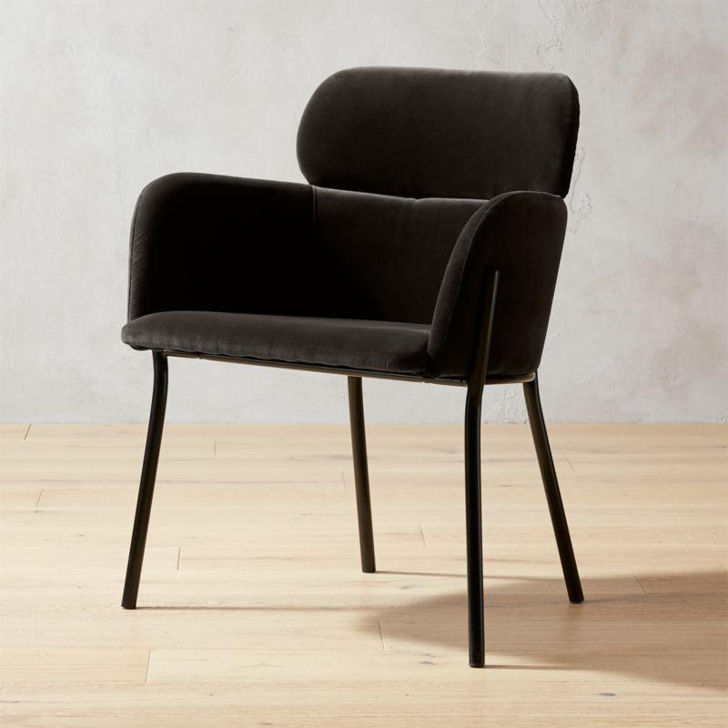 Elegant Azalea Grey Mink Chair