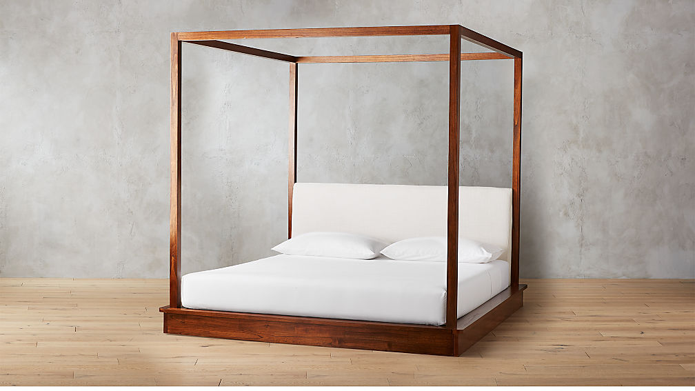 Bali Wood Canopy Bed King Reviews Cb2