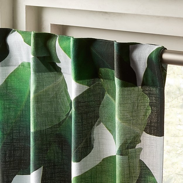 Window Banana Leaf Curtain Panel 48 Quot X84 Quot Reviews Cb2