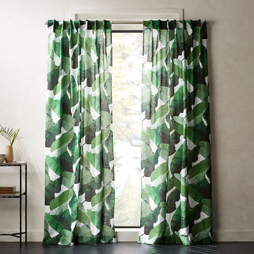 Banana Leaf Curtain Panel