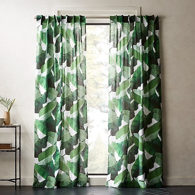 Banana Leaf Curtain Panel Cb2