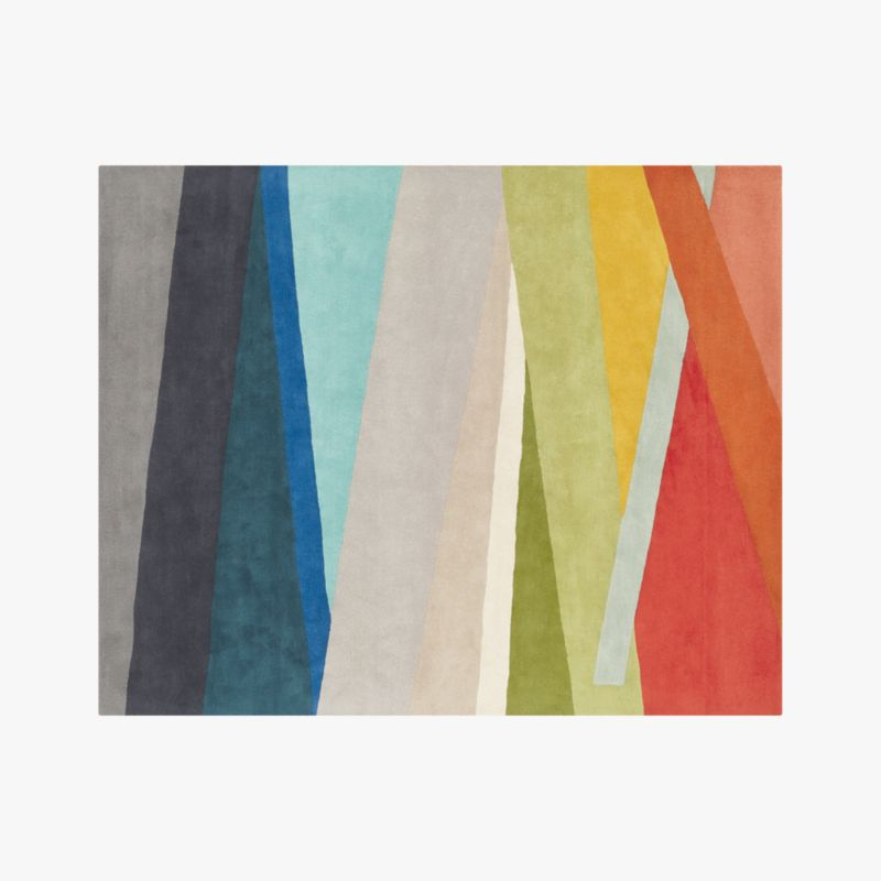 Banded Multicolor Stripe Rug 8 X10 Reviews Cb2