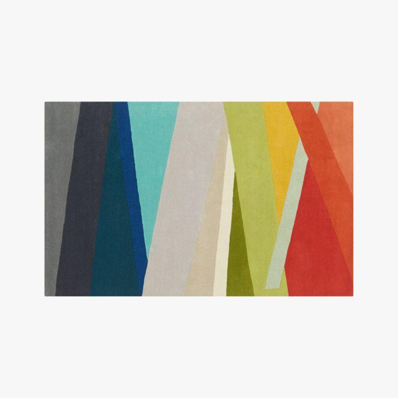 Banded Multicolor Stripe Rug 5 X8 Reviews Cb2