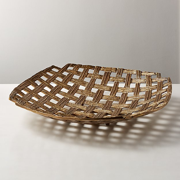 Bari Woven Metal Bowl - Image 1 of 6