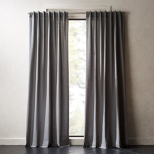 Graphite Grey Basketweave II Curtain Panel - Image 1 of 5