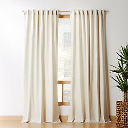 Natural Tan Basketweave Ii Curtain Panel