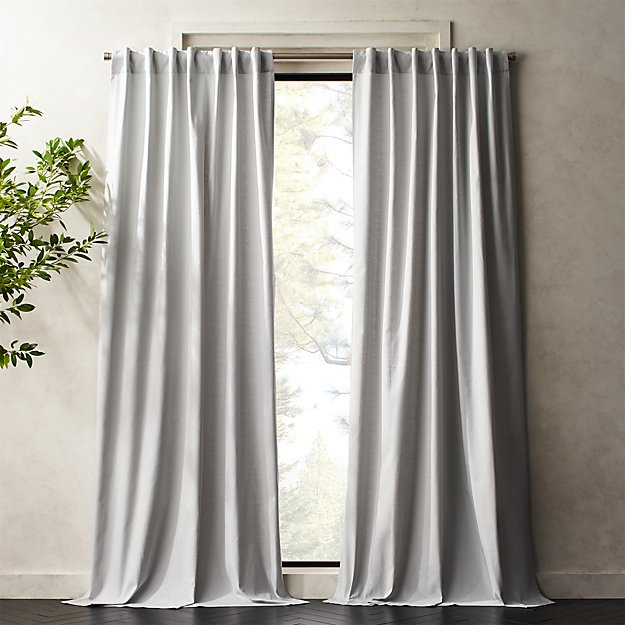 Silver Grey Basketweave II Curtain Panel - Image 1 of 5
