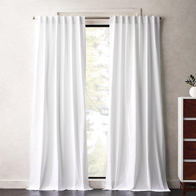 White Basketweave II Curtain Panel - Image 1 of 5