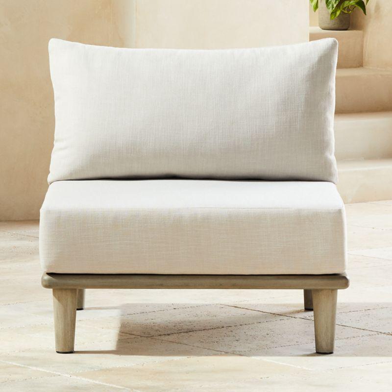 Baixa Wood Outdoor Armless Chair Cb2