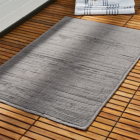 Baxter Cool Grey Cotton Bath Mat
