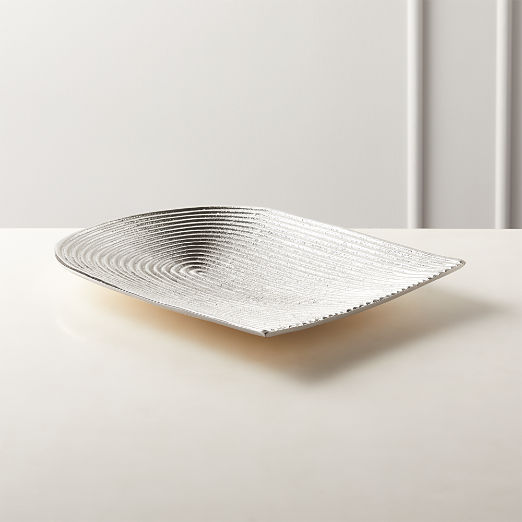 Beam Silver Cast Aluminum Serving Platter