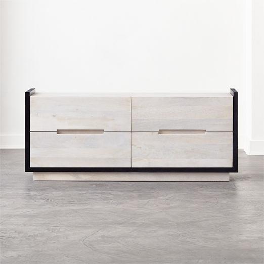 Beaufort Bleached Wood Low Dresser
