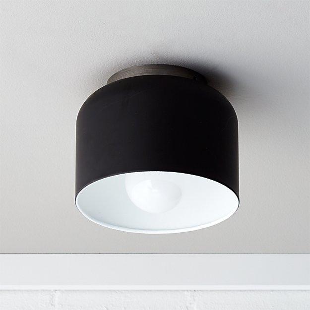 Bell Black Flush Mount Light - Image 1 of 9