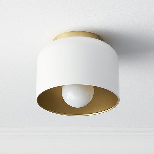 Bell White Flush Mount Light - Image 1 of 10
