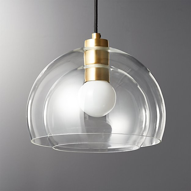 globe elm west pendant c products clear