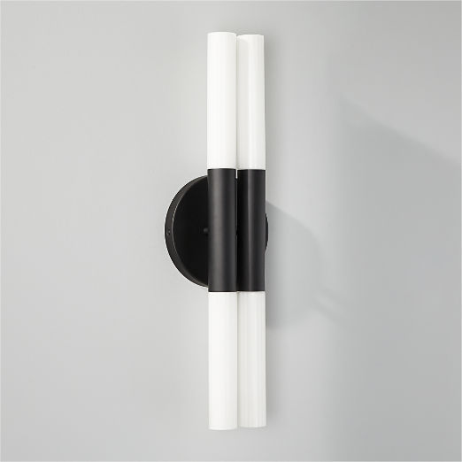 Bella Fluted Black Wall Sconce