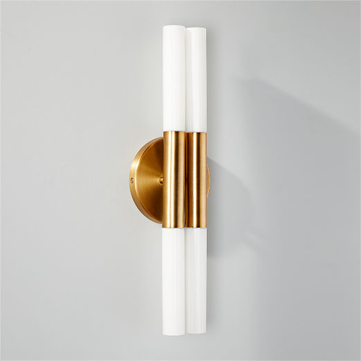 Bella Fluted Brass Wall Sconce