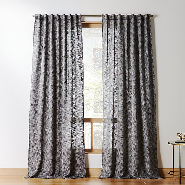 Construction Time Lined Curtains: Bensyn Tweed Curtain Panel