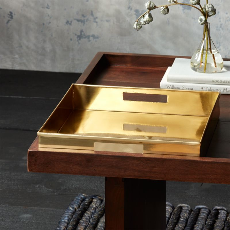 Bento Brass Coffee Table Tray + Reviews