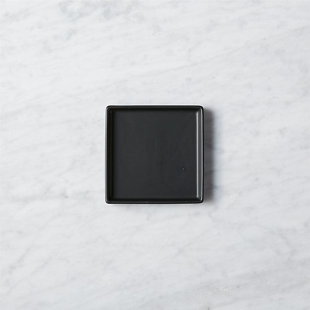 Bento Matte Black Appetizer Plate - Image 1 of 10