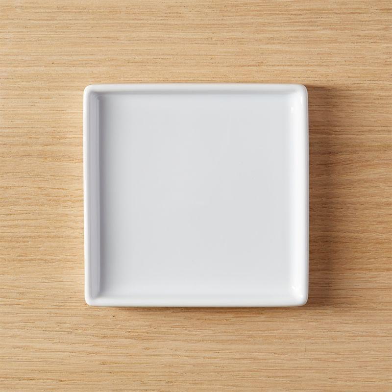 Bento Small Square Plate Reviews Cb2