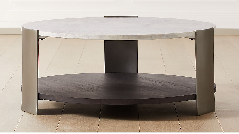 Beret Marble 2-Tier Coffee Table - Image 1 of 5