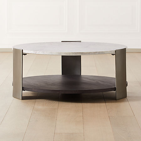 Beret Marble 2 Tier Coffee Table Cb2